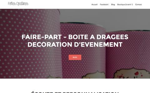 Screenshot of Home Page folies-opalines.fr - Folies Opalines - captured Aug. 3, 2015