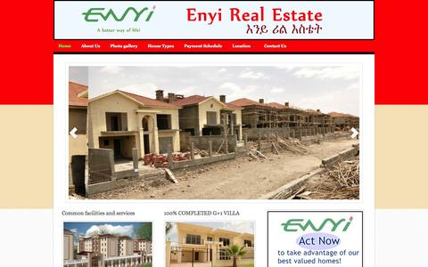Screenshot of Home Page enyirealestate.com - Enyi Realestate - captured Sept. 30, 2014