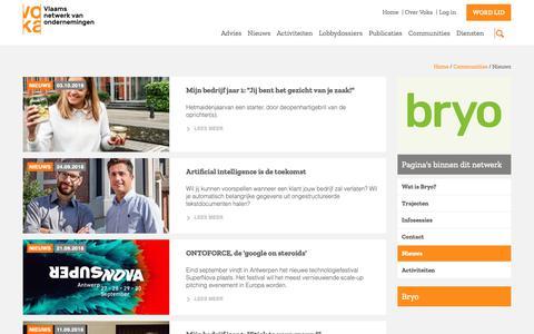 Screenshot of Press Page voka.be - Nieuws | Voka - captured Oct. 21, 2018