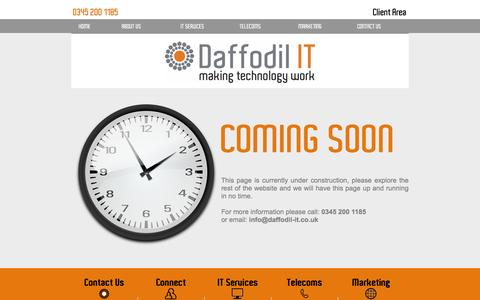 Screenshot of About Page Site Map Page daffodil-it.co.uk - Daffodil Testing - captured July 31, 2016