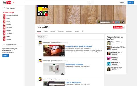 Screenshot of YouTube Page youtube.com - mmodulUS  - YouTube - captured Oct. 29, 2014