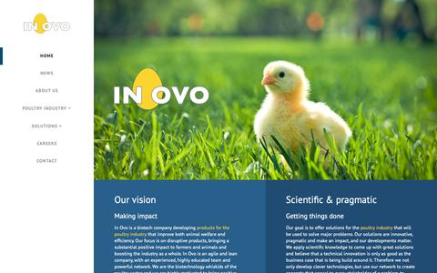 Screenshot of Home Page inovo.nl - Home | In Ovo - captured Nov. 12, 2018