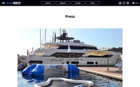 Screenshot of Press Page funair.com - Press – FunAir - captured June 6, 2017