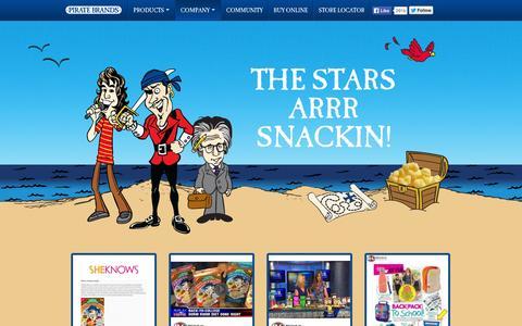 Screenshot of Press Page piratebrands.com - Press |  Pirate Brands, Get Hooked!! - captured Sept. 17, 2014