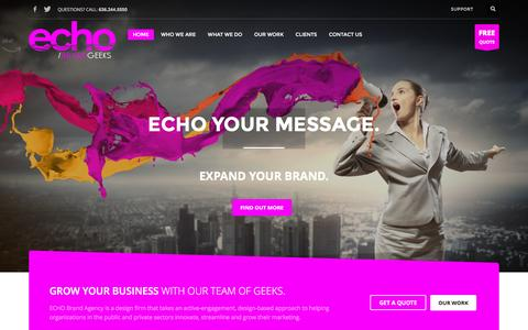 Screenshot of Home Page echobrandgeeks.com - Echo Brand Geeks | The Brand Geeks - captured Dec. 10, 2015