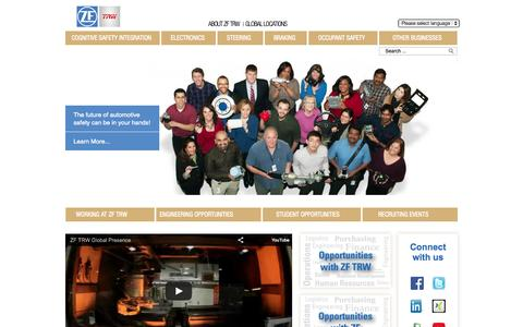 Screenshot of Jobs Page trw.com - Careers | ZF TRW - captured Oct. 22, 2015