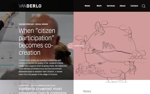 Screenshot of Home Page vanberlo.nl - VanBerlo / We create the difference - captured Nov. 11, 2017