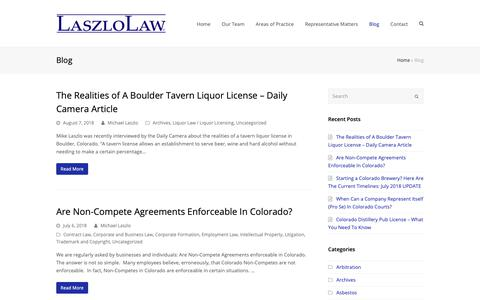Screenshot of Blog laszlolaw.com - Blog - LaszloLaw - captured Sept. 27, 2018