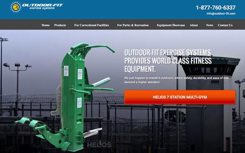 Screenshot of Products Page outdoor-fit.com - Outdoor Fitness Equipment | Outdoor Fitness Equipment - captured Feb. 22, 2016