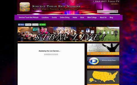 Screenshot of Press Page stbm.org - STBM LIVE Broadcast  - Simchat Torah Beit Midrash - captured Sept. 30, 2014