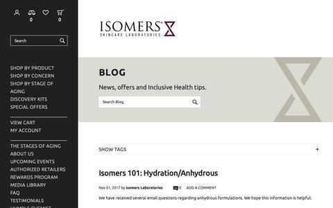 Screenshot of Blog isomers.ca - Blog - Blog - captured Dec. 19, 2018