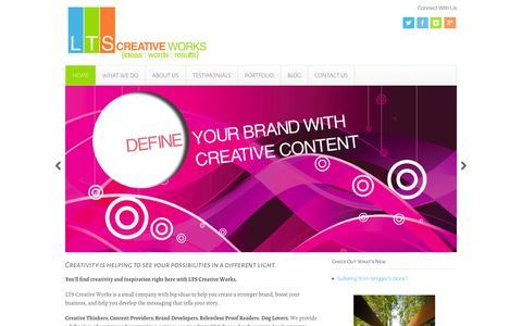 Screenshot of Home Page ltscreative.com - {home} - LTS Creative Works - captured Oct. 1, 2014