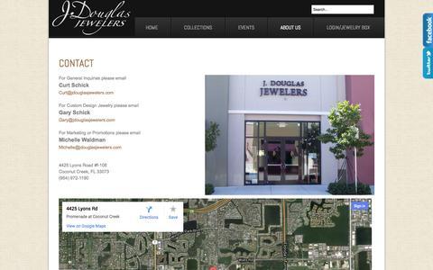 Screenshot of About Page jdouglasjewelers.com - J. Douglas Jewelers - Contact - captured Sept. 30, 2014
