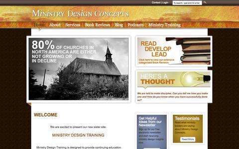 Screenshot of Home Page ministrydesignconcepts.com - Ministry Design Concepts - captured Oct. 7, 2014