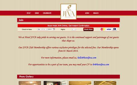 Screenshot of Signup Page hoteljiva.com - Hotel Jiva - captured Sept. 30, 2014