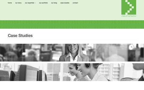 Screenshot of Case Studies Page neumarkets.com - Neumarkets   Digital Marketing Case Studies   Neumarkets - captured Nov. 4, 2014