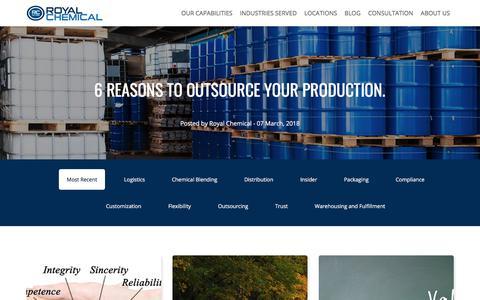 Screenshot of Blog royalchemical.com - Blog | Royal Chemical - captured March 22, 2018