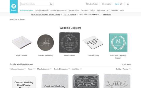 Wedding Drink & Beverage Coasters | Zazzle