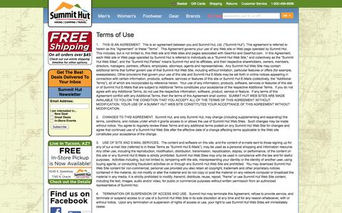 Screenshot of Terms Page summithut.com - Terms and Conditions | SummitHut.com - captured Sept. 24, 2014
