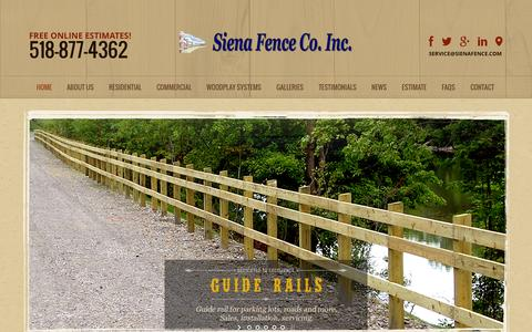 Screenshot of Privacy Page sienafence.com - Residential Fencing Albany | Commercial Fencing New York - captured Oct. 9, 2014