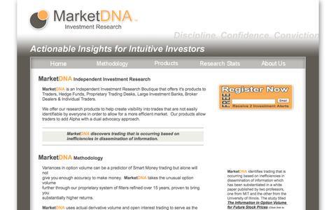 Screenshot of Home Page marketdna.com - MarketDNA - Home - captured Oct. 4, 2014