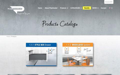 Screenshot of Products Page plastimodul.com - Listado de Productos Fabricados por Plastimodul - captured Sept. 28, 2018