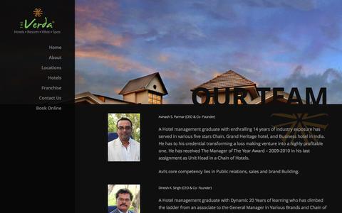 Screenshot of Team Page theverda.com - Goa The Verda : Hotels in Goa | Budget Hotels in Goa | Hotels in Anjuna | Hotels in Varca - captured Feb. 27, 2016