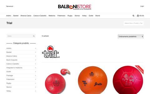 Screenshot of Trial Page balbonistore.it - Trial | Brands | Balboni Store - captured June 1, 2016