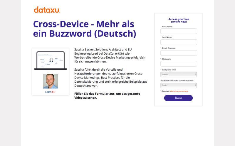 Cross-Device Mehr als ein Buzzword | DataXu Webinar