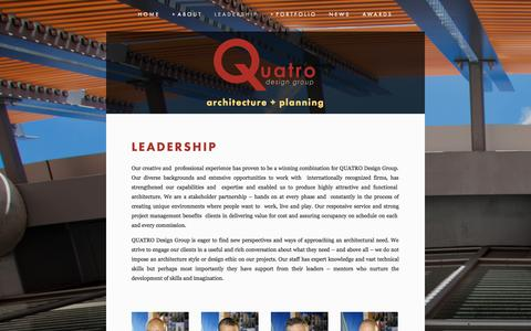 Screenshot of Team Page qdg-architects.com - leadership — Quatro Design Group - captured Oct. 3, 2014