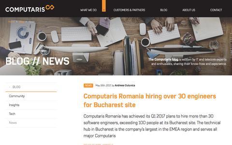 Screenshot of Press Page computaris.com - Telco tech news   Computaris - captured May 20, 2017