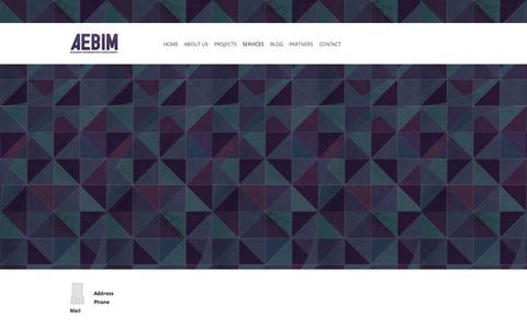 Screenshot of Services Page aebim.com - Aebim : Services - captured Sept. 30, 2014