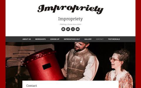 Screenshot of Contact Page wordpress.com - Contact – Impropriety - captured Feb. 22, 2018