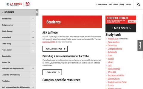 Students, La Trobe University