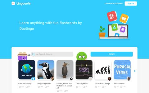 Tinycards — Flashcards by Duolingo