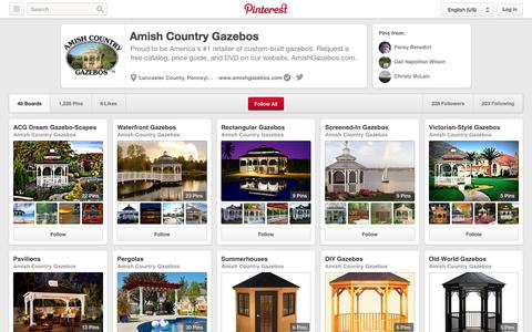 Screenshot of Pinterest Page pinterest.com - Amish Country Gazebos on Pinterest - captured Oct. 23, 2014