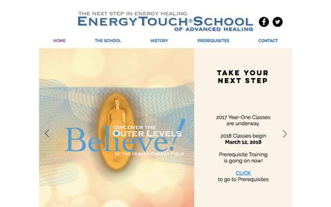 Screenshot of Home Page energytouchschool.com - Energy Touch School of Advanced Healing - captured Aug. 8, 2017