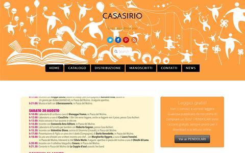 Screenshot of Home Page casasirio.com - CasaSirio - captured Oct. 2, 2014