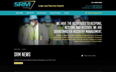 Screenshot of Press Page srmcat.com - News - captured Oct. 26, 2014