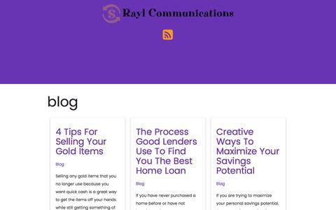 Screenshot of Blog raylcommunications.com - blog - Borrowing What You Need - captured June 19, 2017
