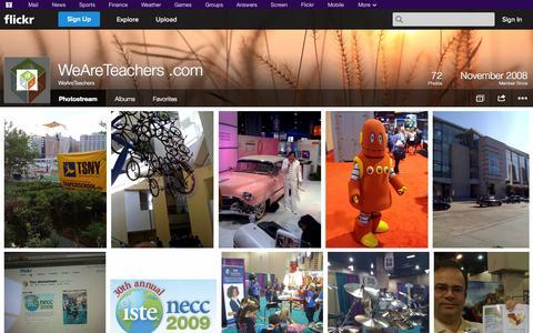 Screenshot of Flickr Page flickr.com - Flickr: WeAreTeachers' Photostream - captured Oct. 26, 2014