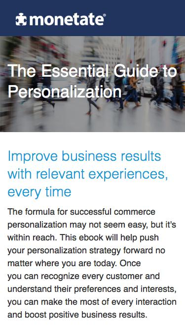 The Essential Guide to Personalization | Whitepaper from Monetate