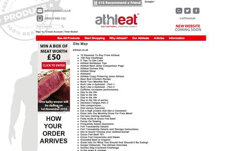Screenshot of Site Map Page athleat.co.uk - Site Map - captured Oct. 4, 2014