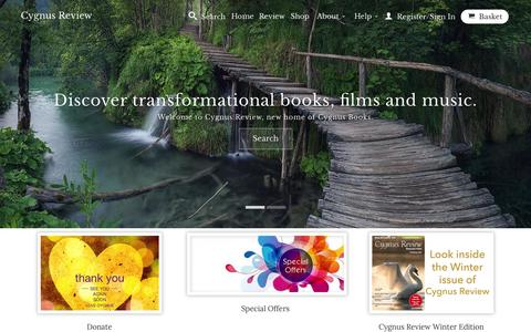 Screenshot of Home Page cygnusreview.com - Cygnus Review for your mind, body and spirit. Join the community. - captured Jan. 22, 2015