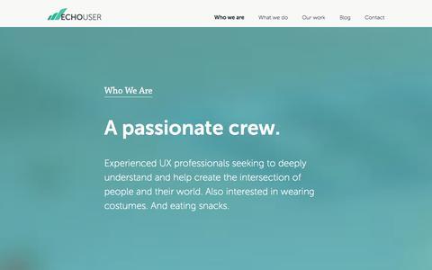 Screenshot of Jobs Page Team Page echouser.com - EchoUser - captured Oct. 28, 2014