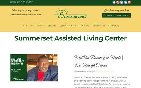 Screenshot of Press Page summersetalc.com - Summerset Assisted Living Center - captured Oct. 18, 2018