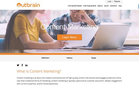 Content Marketing: What is, How To and Why | Outbrain.com