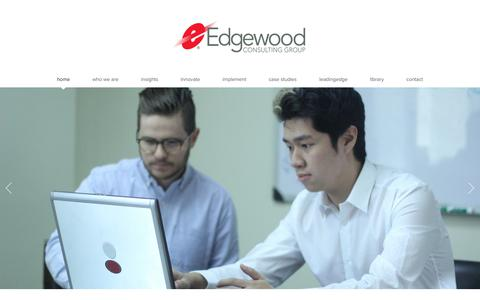 Screenshot of Home Page edgewoodcg.com - Edgewood Consulting Group | Home - captured Sept. 27, 2018