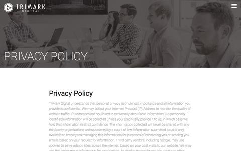 Privacy Policy - TriMark Digital