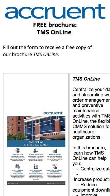 brochure | TMS OnLine